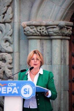 La edil popular Pepa Luzardo en una foto de la última campaña electoral municipal