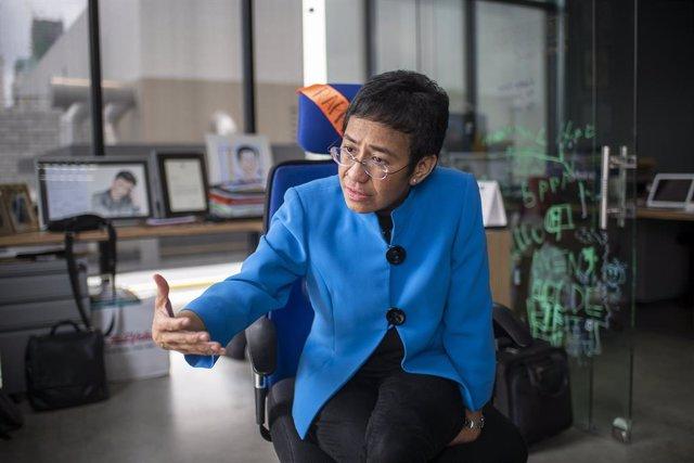 Filipinas.- La periodista Maria Ressa recurre la condena en su contra por ciberd