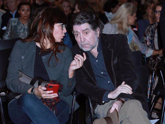 Joaquín Sabina y Jimena Coronado en un acto celebrado el pasado invierno en Madrid
