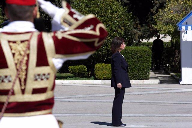 Katerina Sakellaropoulou, presidenta de Grecia.