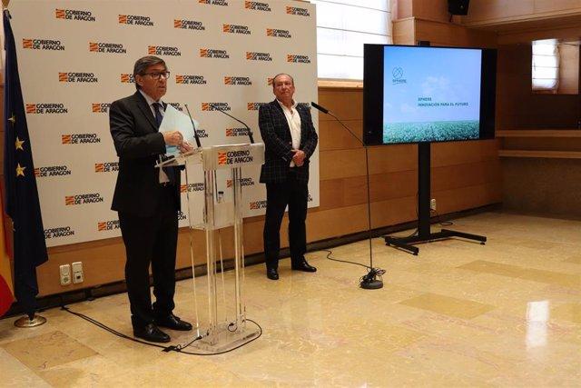 Arturo Aliaga y Alonso Biel en la presentación del proyecto.