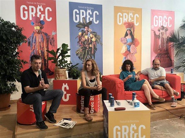 El director del Festival Grec, Cesc Casadesús, aquest dilluns en la presentació de la programació teatral presencial del Grec 2020