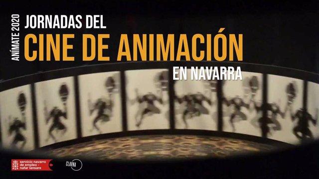 Cartel de las Jornadas del Cine de Animación en Navarra
