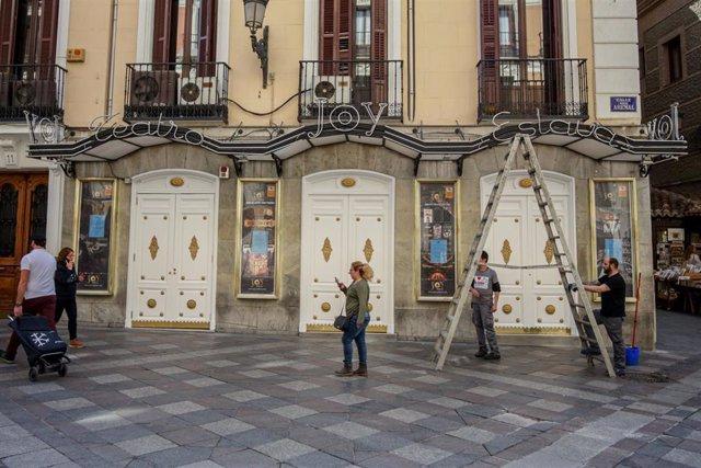 El Teatro Joy Eslava el mismo día que el Gobierno de la Comunidad de Madrid ha decretado el cierre de discotecas a consecuencia del coronavirus, en Madrid (España), a 13 de marzo de 2020.