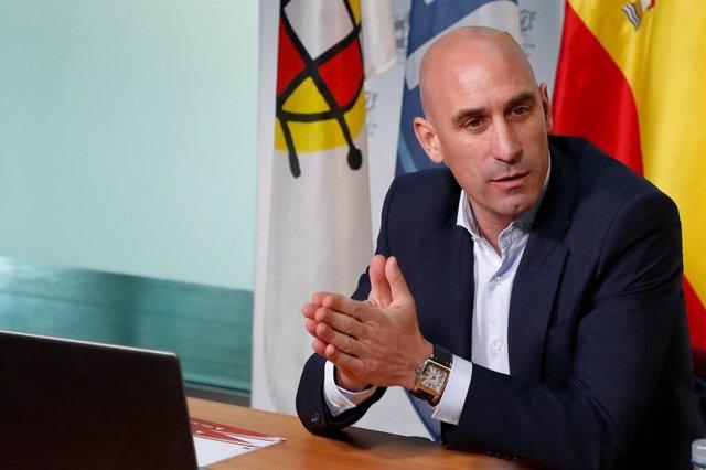 El presidente de la RFEF Luis Rubiales comparece para anunciar las medidas adoptadas por el coronavirus