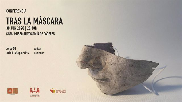 Cartel de la conferencia de Jorge Gil en el Museo Guaysamín de Cáceres