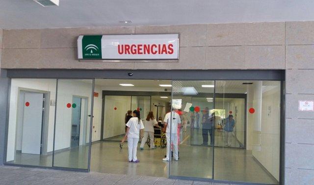 Entrada de Urgencias del Hospital de La Línea