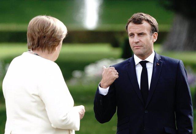 Macron y Merkel en Meseberg, Alemania