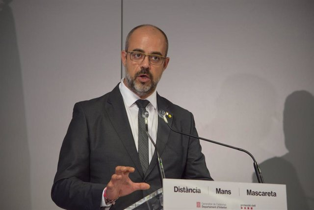 El conseller de Interior, Miquel Buch, en rueda de prensa tras presentar la auditoría a Mossos