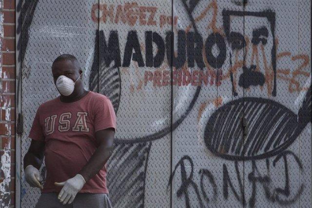 Pintada a favor de Nicolás Maduro en Caracas