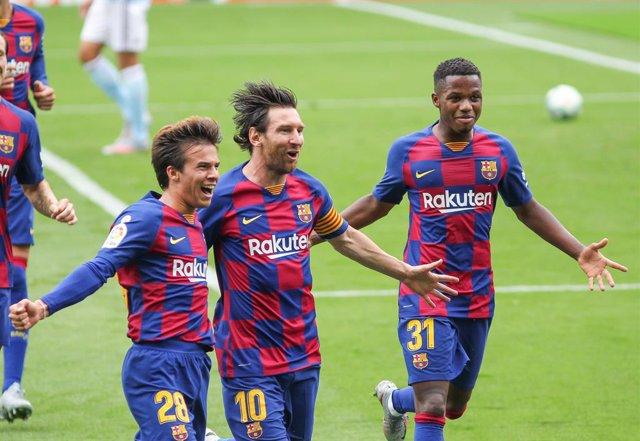 Fútbol/Pichichi.- Messi se mantiene al frente de la tabla de goleadores y Luis S