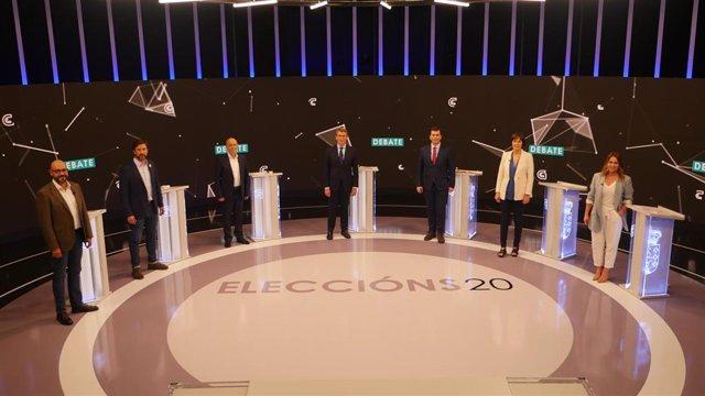 Debate de la CRTVG para las elecciones del 12 de julio