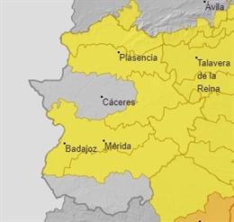 Alertas en Extremadura para el 30 de junio