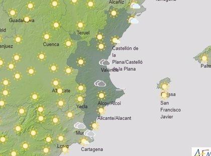 La Comunitat Valenciana amanece con cielos despejados o poco nubosos