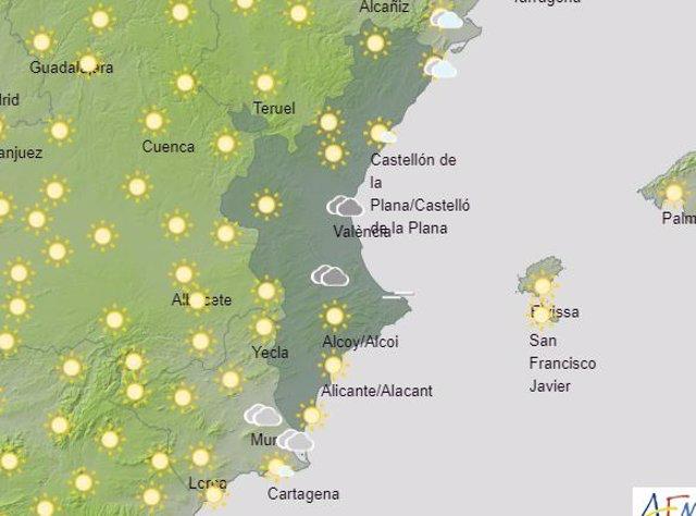 Previsión del tiempo en la Comunitat Valenciana, martes 30 de junio.
