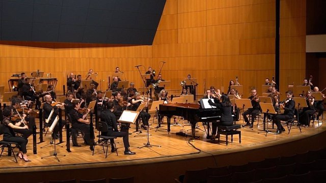 Imagen de un concierto de la Orquesta Sinfónica de la Región de Murcia que este miércoles emite Cultura en la plataforma 'MusicÖn'