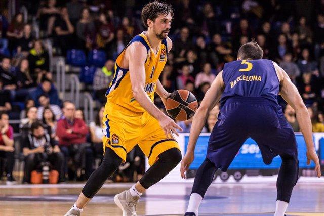 Alexey Shved en un Barcelona - Khimki