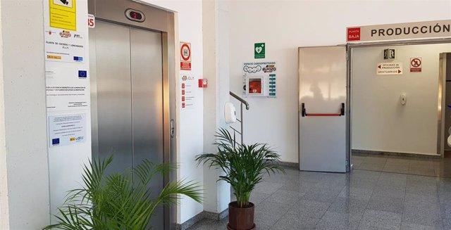 Imagen de un desfibrilador en las instalaciones de ElPozo Alimentación
