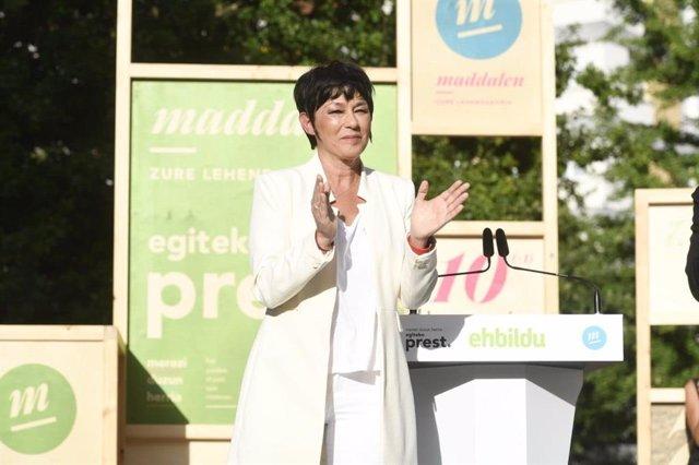 Maddalen Iriarte, en un acto de campaña.
