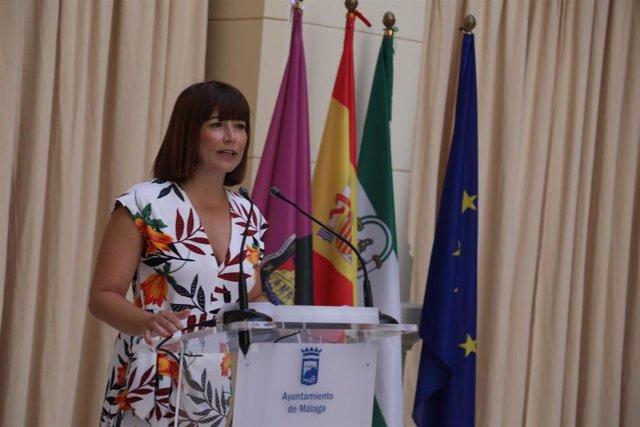 La concejal delegada de Participación Ciudadana de Málaga, Ruth Sarabia