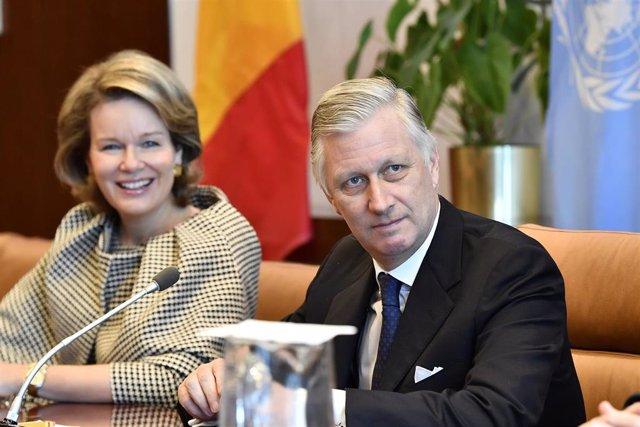 El rey Felipe de los Belgas y la reina Matild