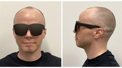 Facebook crea un visor de realidad virtual fino y compacto que parece unas gafas de sol