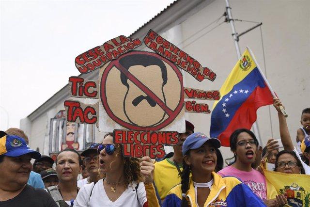 Protesta en Venezuela contra el Gobierno de Nicolás Maduro