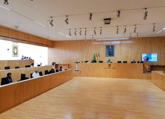 Pleno de la Diputación de Málaga en una imagen de archivo