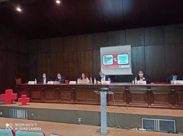 Imagen de la presentación de la campaña 'En realidad no tiene gracia' de Cruz Roja.