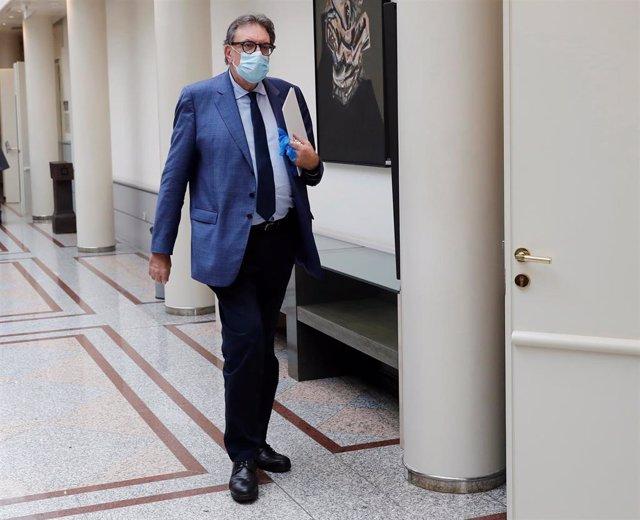 El portavoz de Junts per Catalunya en el Senado, Josep Lluís Cleries.
