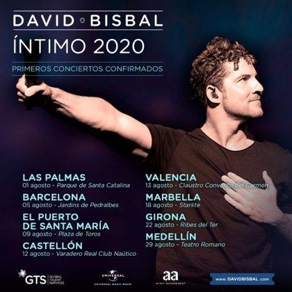 David Bisbal anuncia una gira íntima para este verano
