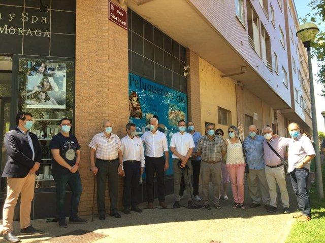 Inauguración de la calle Rosa Chacel en Logroño
