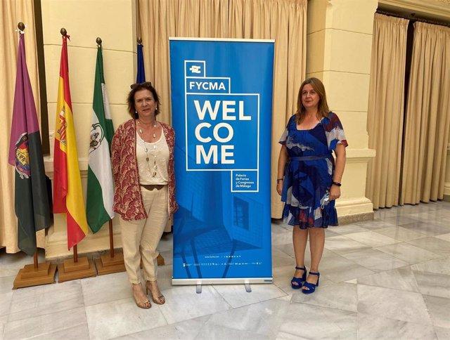 La concejala de Turismo, Promoción de la Ciudad y Captación de Inversiones del Ayuntamiento de Málaga, Rosa Sánchez, y la directora general de FYCMA, Yolanda de Aguilar.