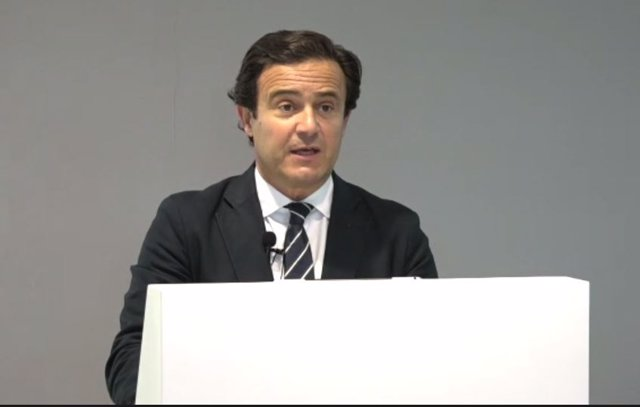 El director de análisis de Bankinter, Ramón Forcada, en la presentación de la estrategia de inversión del tercer trimestre, este martes