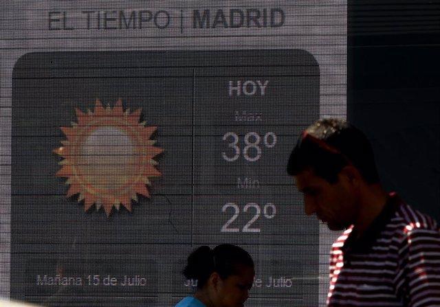 Sol y calor en Madrid