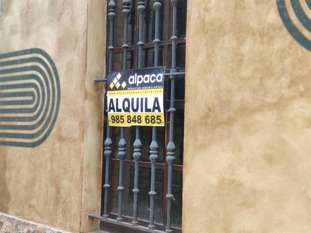 Vivienda en alquiler en Asturias.