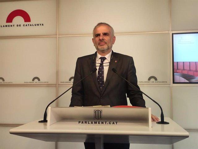 El presidente de Cs en el Parlament, Carlos Carrizosa