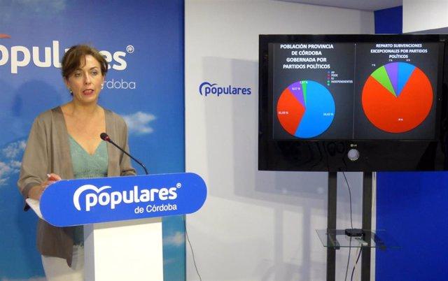 María Luisa Ceballos en la sede del PP de Córdoba.