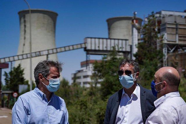 Daniel Pérez Calvo, portavoz de Cs en las Cortes, ha asistido al cierre de la Central Térmica de Andorra