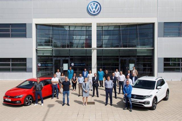 Firma del IX convenio colectivo de Volkswagen Navarra