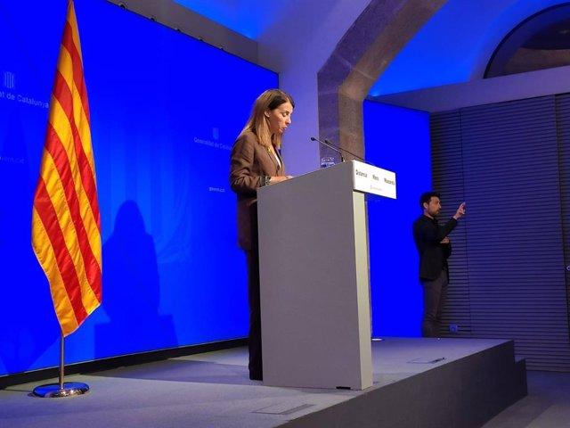 La consellera de Presidencia y portavoz del Govern, Meritxell Budó.