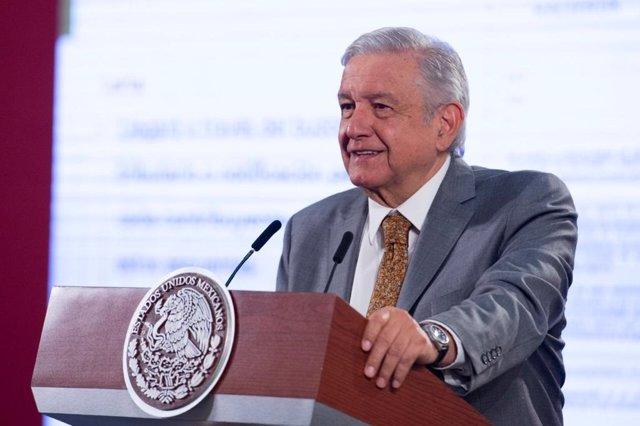 Andrés Manuel López Obrador en rueda de prensa