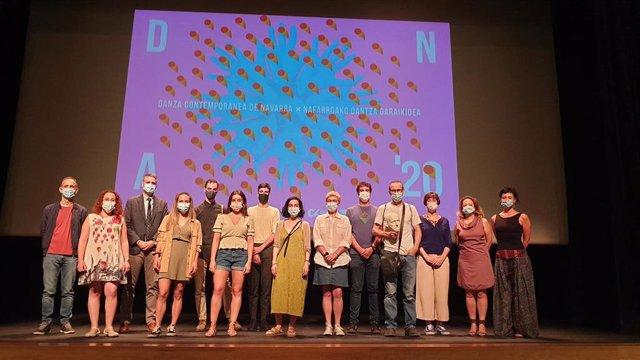 Representantes de las Residencias, Exhibiciones, Red de Teatros de Navarra, Baluarte y Gobierno de Navarra implicados en el programa del DNA-Danza contemporánea de Navarra