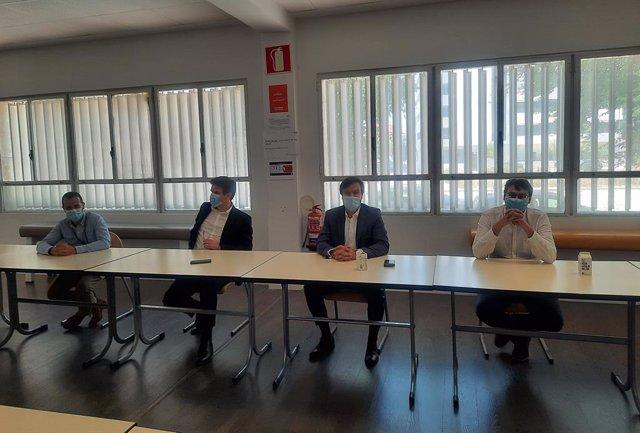 El director general de la marca Citroën para España y Portugal, Nuno Marques (segundo por la derecha).