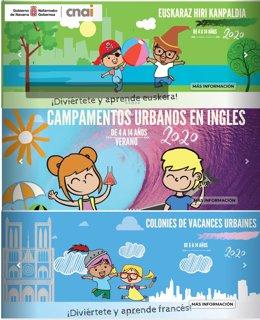Cartel anunciador de los campamentos de verano del CNAI