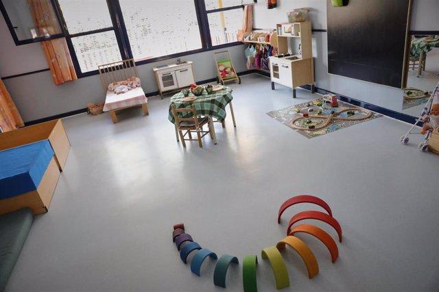 Juegos y material educativo en una de las aulas de la Escuela Infantil Municipal Las Viñas