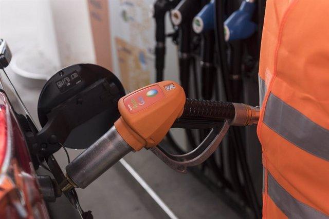 Surtidor de GLP en una gasolinera