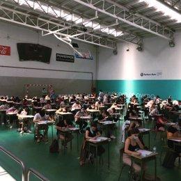 Inicio de las pruebas de acceso a la universidad 2020 en Asturias con medidas de seguridad frente al coronavirus