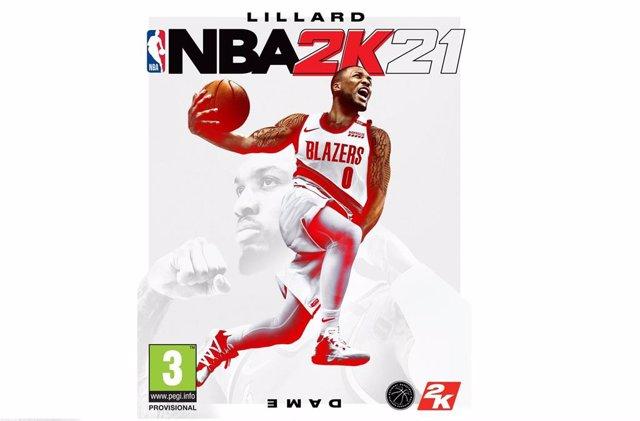 Damian Lillard en la portada de NBA 2K21.