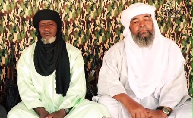 Iyad ag Ghali (d), líder de JNIM, y Amadou Koufa (i)